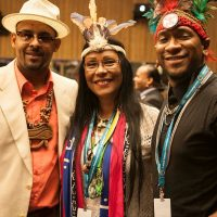 Chief Guanibo,Dr. Tai pelli and Tapia (Chief Tureygua) At the United Nations