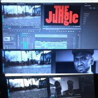 Images from Editing of The Jungle pilot