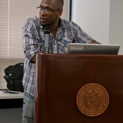 Tapia (Chief Tureygua) speaking at The Indigenous people_s cultural conference in Providence RI Presenting a Talk on Viable Knowledge(2)